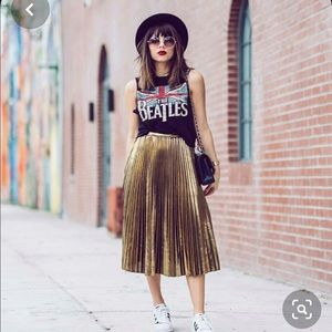 Trafaluc Collection ZARA: Golden Skirt.💖